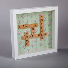 Scrabble Family You are in the right place about Frame Crafts paint Here we offer you the most beautiful pictures about the Frame Crafts for boyfriend you are looking for. When you examine the Scrabbl Scrabble Letter Crafts, Scrabble Tile Crafts, Scrabble Board, Scrabble Letters, Scrabble Ornaments, Family Scrabble Art, Box Frame Art, Diy Frame, Box Frames