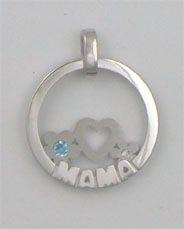 Colgante Finor en plata de ley con topacio azul  y diamante