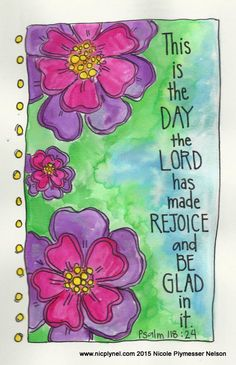 This Is the Day the Lord has Made Illustrated Watercolor Print by nicplynel on Etsy