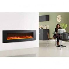 Cheapest Deal now being offered on Gazco Electric Fires here at banyo. Electric Fire And Surround, Inset Electric Fires, Wall Mounted Electric Fires, Wall Fires, Insert, Beautiful Wall, Tiles, Interior, Modern