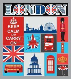 Londres carte de dessin vectoriel illustration Banque d'images - 19252289