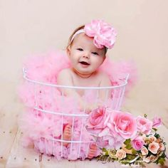 baby photography wire basket flowers props #timelesstreasure
