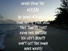 Advice From The OCEAN #BeachesMoms