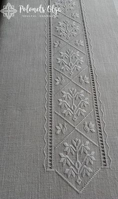 Jacobean Embroidery, Hardanger Embroidery, Folk Embroidery, White Embroidery, Hand Embroidery Designs, Embroidery Stitches, Embroidery Patterns, Stitch Patterns, Drawn Thread