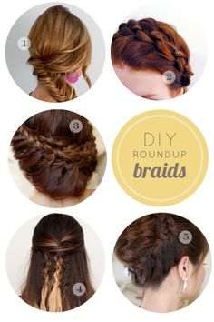 Create these stylish up-do's yourself with easy step by step instructions