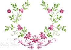 Bordado Floral, Thanksgiving Food, Monogram Frame, Janome, Flower Patterns, Appliques, Machine Embroidery Designs, Towels, Vines