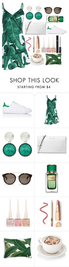 """Tropical Story"" by pulseofthematter ❤ liked on Polyvore featuring adidas, Michael Kors, STELLA McCARTNEY, Dolce&Gabbana, Christian Louboutin and Lancôme"