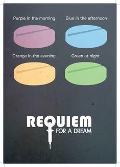East End Prints - Requiem of a Dream - Minimal Prints, £19.95 (http://www.eastendprints.co.uk/requiem-of-a-dream-minimal-prints/)