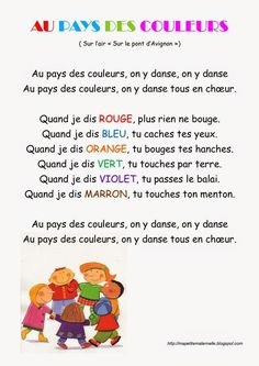 Learn French Videos Watches Printing Education For Kids Printer French Teaching Resources, Teaching French, French Poems, French Colors, Core French, Digital Scrapbook Paper, French Lessons, Kids Songs, Learn French