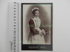 ANTIQUE CABINET CARD PORTRAIT CIRCA LATE (19TH MAID/DOMESTIC SERVANT LICHFIELD