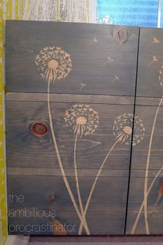 the ambitious procrastinator: How To Use a Stencil With Stain. Stencil with wood glue first