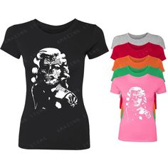 Monroe Skull Women's T-Shirt Marilyn Monroe Shirts ($9.79) ❤ liked on Polyvore featuring tops, t-shirts, pink, women's clothing, pink tee, pattern t shirt, skull t shirts, t shirts and skull print shirt