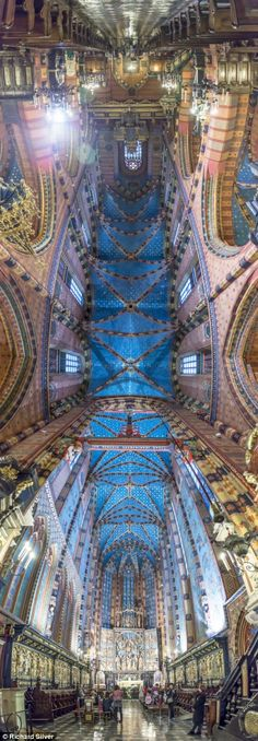Great for architecture lesson intro: Breathtaking panoramic pictures of the exquisite ceilings of churches across the globe