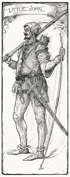 Little John.  Louis Rhead, from Bold Robin Hood and his outlaw band, New York, London, 1912.