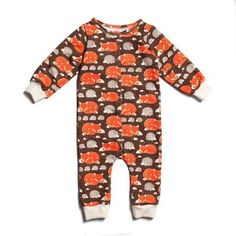 f83373276f2 Brown Foxes   Hedgehogs Jumpsuit - Organic French Terry