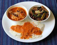 Ruchik Randhap (Delicious Cooking): Mangalorean Plated Meal Series - Boshi#7 - Kori Ghassi, Kadale Manoli & Rotti