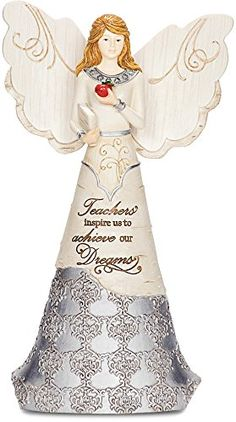Elements 82314 Teacher Collectible Figurine Angel Holding Book and Apple 6Inch -- You can find out more details at the link of the image.