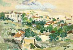 Lucian Grigorescu » Dealuri la balcic Art Database, Oil Painting Reproductions, Impressionism, Landscape, Painters, Art, Projects, Scenery, Corner Landscaping