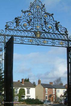 Magnificent main gates of Mary Stevens Park, Norton, Stourbridge
