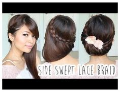 Fold-Over Lace Braid Updo Tutorial (Look Beautiful With This!) Fold-Over Lace Braid Updo Tutorial (Look Beautiful With This! Braided Hairstyles Updo, Short Hair Updo, Updo Hairstyles Tutorials, Short Wedding Hair, My Hairstyle, Braided Updo, Wedding Hairstyles, Curly Hair, Braid Hair