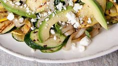 Summer Squash, Avocado, and Feta Salad. #artofcheese