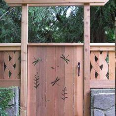 Забор из дерева с прорезной резьбой — 6 соток
