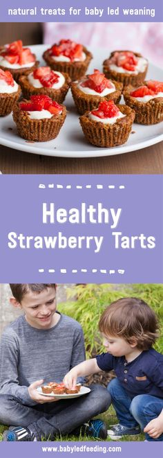 With summer making short and sweet appearances this season make the most of it with these yummy scrummy healthy strawberry tarts. Bite size and delicious I can guarantee these won't be around for long! #babyledweaning #blw #kidfood #kidfriendly #kidfriendlyrecipe #familyfood #familyrecipe