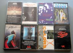 Movie Soundtrack Lot 8 Cassette Tapes Miami Vice Footloose Fame Colors White