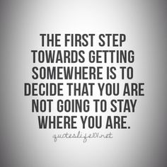 What do you do when you decide you are not going to stay but have nowhere to go? hmmm...