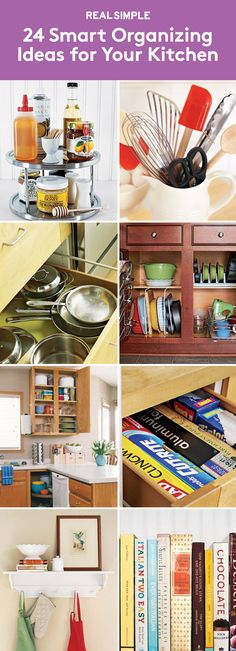 24 Smart Organizing Ideas for Your Kitchen | As these photos show, what makes a kitchen great is how you organize it.
