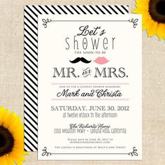 For Sister's couples shower!  Vintage Mr and Mrs Couples Shower by YellowBrickGraphics on Etsy, $20.00