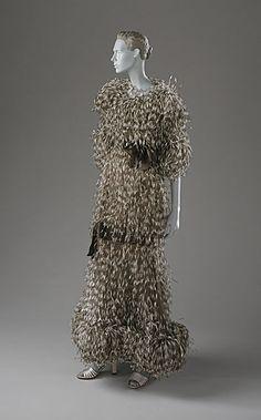 1970s Yves Saint Laurent dress via The Los Angeles County Museum of Art  #1970s #Yves Saint Laurent