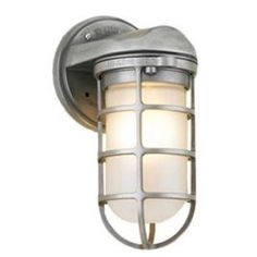 Small Industrial Static Topless Sconce, 118- Painted Aluminum, Frost Glass