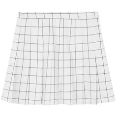 Checkered Pleated Skorts (1,130 PHP) ❤ liked on Polyvore featuring skirts, mini skirts, bottoms, high waisted skirts, skort skirt, pleated skirt, zipper skirt and pleated skort