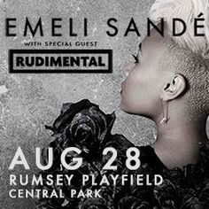 Emeli Sande playing Rumsey Playfields Central Park NYC 28/8/2013