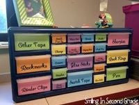 It is so much easier to #organize my teacher tools in this box than in a desk!