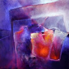 """Annette Schmucker, """"Blau und Orange"""" With a click on 'Send as art card', you can send this art work to your friends - for free!"""