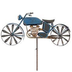 Motorcykel vejrhane. En cool vindspinner til haven til folk, der elsker motorcykler.