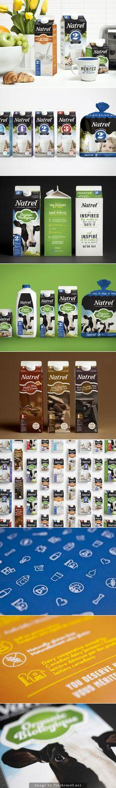 Naturel #Milk #packaging by lg2 boutique - http://www.packagingoftheworld.com/2014/11/naturel-milk.html