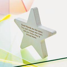 Personalised Wooden Star Keepsake