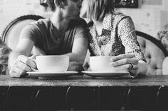 Coffee Shop Engagement session. <3 www.jessicanadine.com  #oklahoma #photographer #love