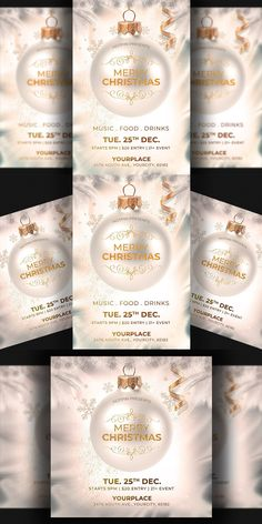 Invitation Flyer, Club Flyers, Christmas Invitations, Flyer Template, Merry, Presents, Templates, Gifts, Stencils