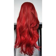 SALE - HEART'S Desire wig // Valentine Ombre Red Auburn Redhead Hair... ($88) ❤ liked on Polyvore