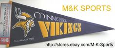 MINNESOTA VIKINGS 1960 THROWBACK EMBROIDERED WOOL PENNANT FREE SHIPPING $31.99