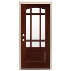 StevesSons Craftsman 6 Lite Stained Knotty Alder Wood Entry