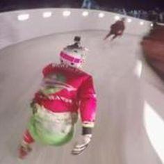 Downhill Ice Skating Looks Unnecessarily Dangerous #darwin