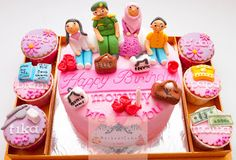 MechaniCake: Shopping and Family themed cake for Kartika's Mom Bday