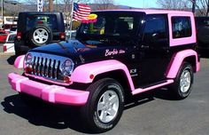 Jeep Wrangler Barbie Edition