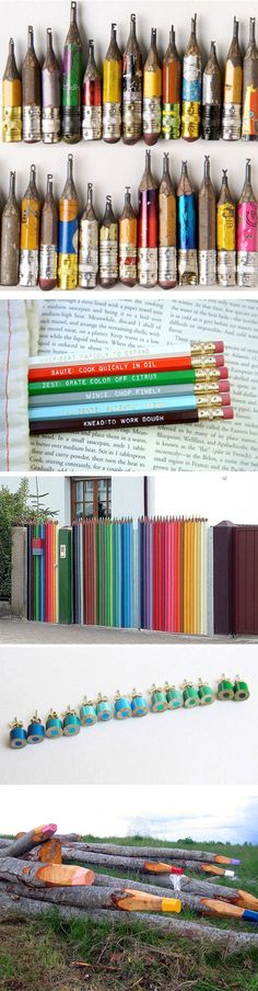 Totally in love with that colored pencil fence.