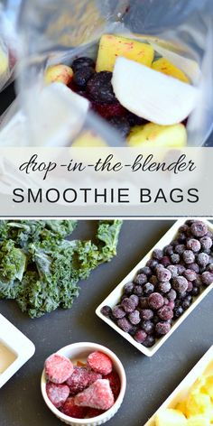 There is no better time to enjoy a daily smoothie than during the hottest season of the year. Fill your freezer with pre-made individual sized drop-in-the-blender smoothie bags.